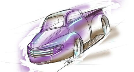 '1940's hot rod pickup comish. by judgemental541