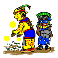 Xipe Totec and Tlaloc by nosuku-k
