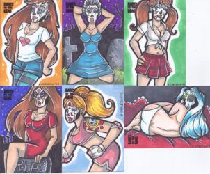 Babes of the Dead Sketchcards (5FINITY) (Set 3) by keelhaulkate