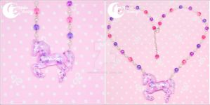 Dreamy carousel horse Necklace 3 by CuteMoonbunny