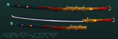 Deep Sea Infested Katana Auction Adopt (closed) by Nano-Core