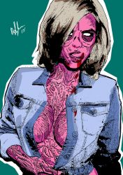 Helen Flanagan as a pinup zombie Vol3-color by PeterVsAll