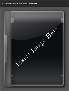 DVD Plastic Case Template PSD by GameBoxIcons