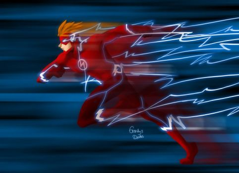 The Flash (Wally West) by amateurartworker