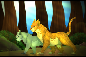 Cinderpaw and Fireheart by StormyyCloud