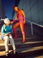 Fiona and Flame Prince from Adventure Time 2 by SNTP