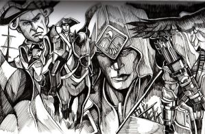 Assassin's Creed 3 Inking by chenkl