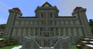 Minecraft Movie Palace by ConcreteCastleMagic
