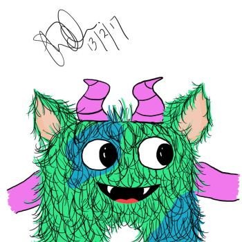 Quick Hoggle digital sketch by StitchItMama