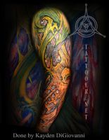 Dallas Denver Tattoo Artist biomech arm by kayden7