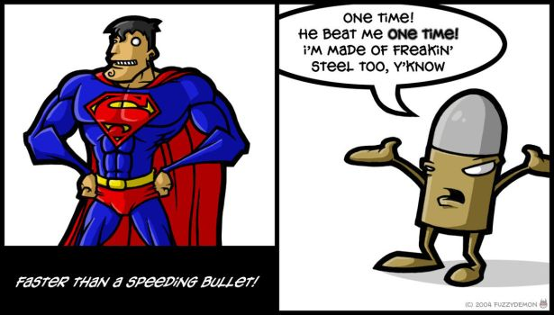 Superman and the Bullet --fd by fuzzydemon