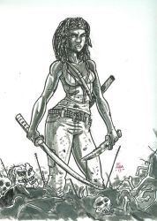 Michonne by chachaman