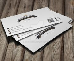 White Classic Business Card by GreyFoxGR