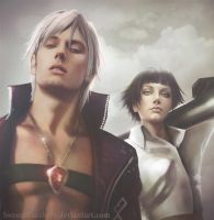 DmC3: Dante and Lady by SweeetRazzbery