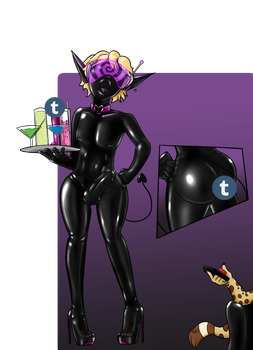 Bimboitress ready to serve - commission for Rossem by RubberLink