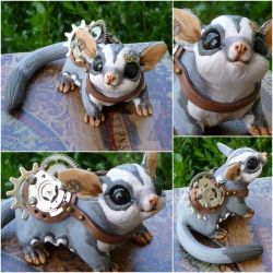 Steampunk Sugarglider by MysticReflections