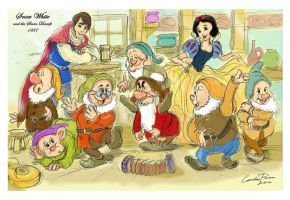 Snow White and the Seven Dwarfs (1937) by ncillustration