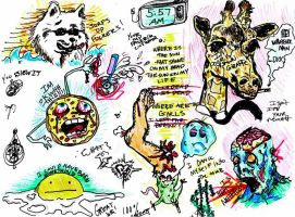 stoned doodles by inthehhallwaynow