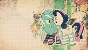 Wallpaper: Lyra and Bon Bon by MadBlackie