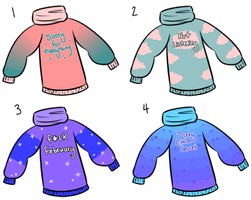Snarky Sweater Adopts 8: (CLOSED) by SweetieBatch