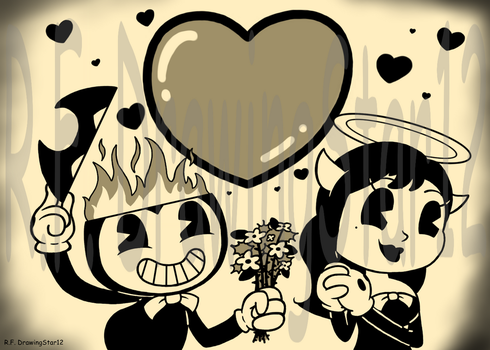 Bendy Fan Art Contest Entry 2 - Heaven and Hell by DrawingStar12