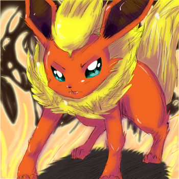 Flareon - Number 136 by Flary23
