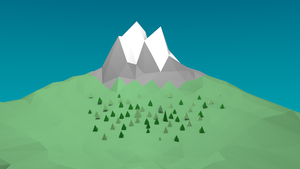 Low Poly Landscape by Gindew