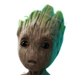 Baby Groot (drawing) by Quelchii