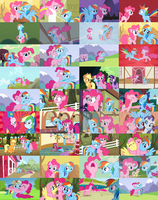 PinkieDash/RainbowPie Collage by xHalesx