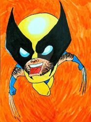 Chibi Wolverine X-Men by risottoshoppe