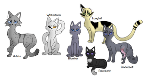 My favorite Warrior cats by Tainted-Vixen