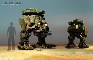 military robot concept by Eon-Works