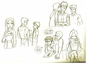 Phineas and Ferb Sketches by iesnoth