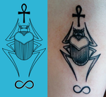 Design and tattoo comparison by KirkyKate