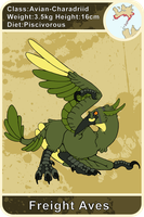 Arecacen Creature Cards: Freight Aves by Chikara-Redwing