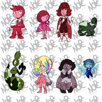[OPEN]Paypal/Point Chibi Gems adopts by JaumDrawings