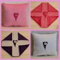 Pinkie Pie and Rarity Heart Pillows by Yukizeal