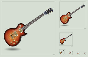 Gibson Les Paul icon by hbielen