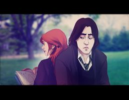 Lily and Severus by andrahilde