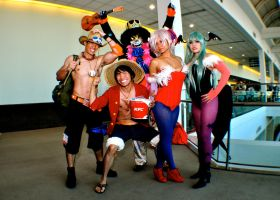 One Piece and Darkstalkers: The Crew by ZestyBliss