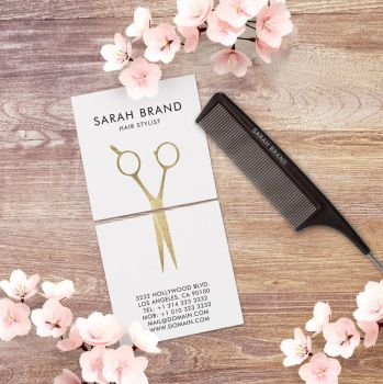 Modern Hair Stylist Business Cards by es32