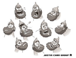 Character Expression Sheet by ItsJustin