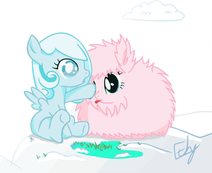 Filly Snowdrop and Fluffle Puff by Chopsticks-Pony