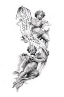 Angels tattoo design by ca5per
