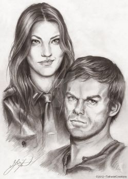 Dexter and Debra by TatharielCreations