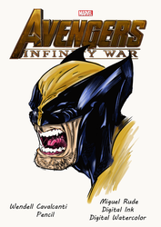 Wolvie  By Wendellcavalcanti  Ink and Color Miguel by miguelrude