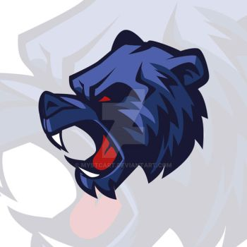 Roaring grizzly bear vector mascot logo by mystcART