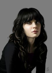 Zooey Deschanel by Aedrian