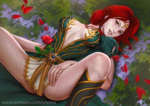 Triss - Rose of remembrance by ynorka