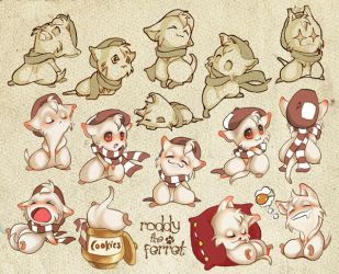 Roddy the Ferret by TheArtistocrat